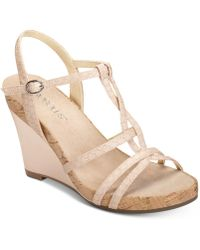 Aerosoles - Plush Song Wedge Sandals - Lyst
