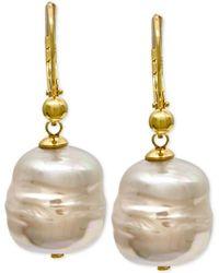 Majorica - 18k Vermeil Imitation Baroque Pearl (12mm) Drop Earrings - Lyst