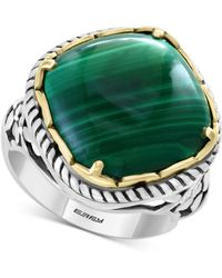 Effy Collection - Effy® Malachite Statement Ring In Sterling Silver & 18k Gold-plate - Lyst