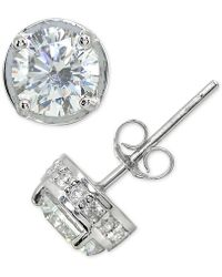 Giani Bernini - Cubic Zirconia Stud Earring In Sterling Silver - Lyst