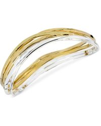 Robert Lee Morris - Two-tone Bangle Bracelet Set - Lyst