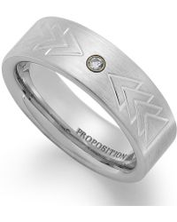 Proposition Love - Cobalt Triangle Motif And Diamond Accent Ring - Lyst