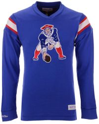 Mitchell   Ness - New England Patriots Team Captain V-neck Long Sleeve T- bc706e8f1