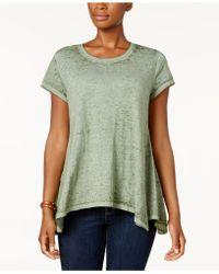 Style & Co. - Burnout Handkerchief-hem T-shirt - Lyst
