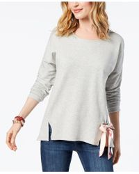 Style & Co. - Tie-front Sweatshirt, Created For Macy's - Lyst