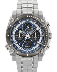 07f3c4adc3f Bulova - Chronograph Precisionist Stainless Steel Bracelet Watch 46.5mm -  Lyst