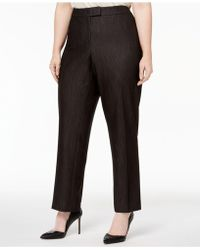Anne Klein | Plus Size Tab-waist Pants | Lyst