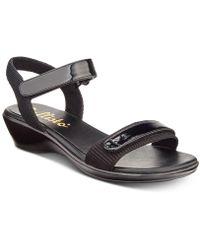 232a2d4abfca Lyst - Callisto Kallie Wedge Sandals in Black