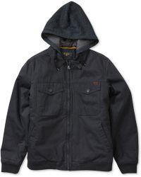 Billabong - Men's Barlow Twill Full-zip Hooded Jacket - Lyst