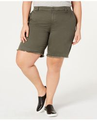 Style & Co. - Plus Size Released Hem Shorts, Created By Macy's - Lyst