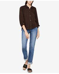 BCBGeneration - Variegated Stripe Cotton Shirt - Lyst