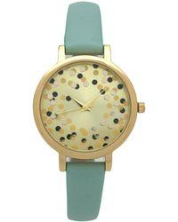 Olivia Pratt - Confetti Thin Leather Strap Watch - Lyst