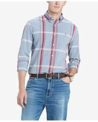 391c61a7ca2d Lyst - Tommy Hilfiger Welton Plaid Shirt in Red for Men
