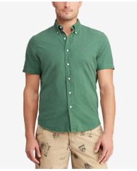 5707537ea Polo Ralph Lauren Men s Classic-fit Short-sleeve Shirt in Green for ...