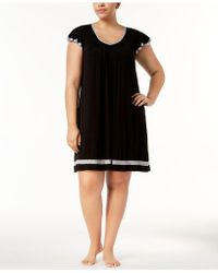 Ellen Tracy - Plus Size Yours To Love Short Sleeves Chemise - Lyst