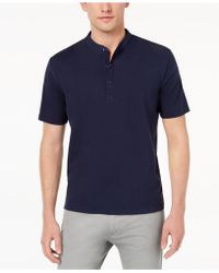 Daniel Hechter - Aston Mix-media Banded-collar Polo, Created For Macy's - Lyst