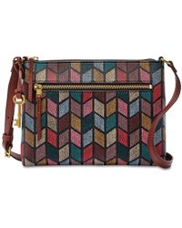 Fossil - Fiona Printed Small Fabric Crossbody - Lyst
