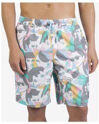 Neff - Duck Print Hot Tub Shorts - Lyst