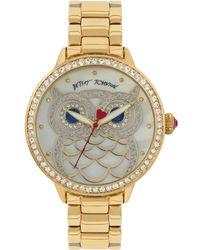 Betsey Johnson - Women's Owl Gold-tone Bracelet Watch 20mm - Lyst