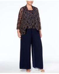 Alex Evenings - Plus Size 3-pc. Lace Pantsuit - Lyst