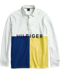 2825d44b2112 Tommy Hilfiger - James Rugby Shirt With Magnetic Buttons - Lyst