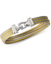 Charriol - Women's Brilliant Two-tone Pvd Stainless Steel Cable Bangle Bracelet - Lyst