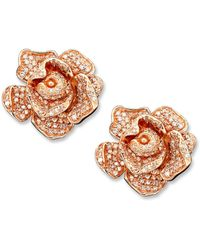 Effy Collection - Pave Rose By Effy Diamond Flower (1-1/3 Ct. T.w.) In 14k Rose Gold - Lyst
