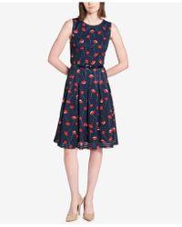 Tommy Hilfiger | Printed Illusion-stripe Dress | Lyst