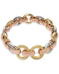 Alfani - Tri-tone Hoop Link Stretch Bracelet, Created For Macy's - Lyst
