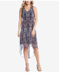 Karen Kane - Printed High-low Dress - Lyst