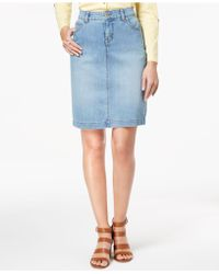 Style & Co. - Denim Skirt, Created For Macy's - Lyst