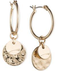 Lonna & Lilly - Gold-tone Multi-disc Hoop Earrings - Lyst