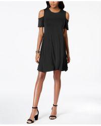 Style & Co. - Cold-shoulder A-line Dress - Lyst