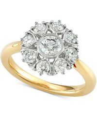 Marchesa - Diamond Floral Engagement Ring (1-1/3 Ct. T.w.) In 18k Gold - Lyst