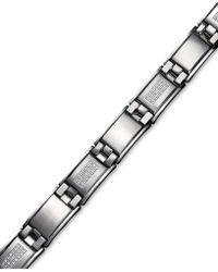 Macy's | Men's Diamond Bracelet In Stainless Steel (3/4 Ct. T.w.) | Lyst