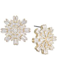 Badgley Mischka - Baguette Crystal Starburst Cluster Stud Earrings - Lyst