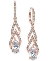 Danori - 18k Rose Gold-plated Crystal & Pavé Drop Earrings - Lyst