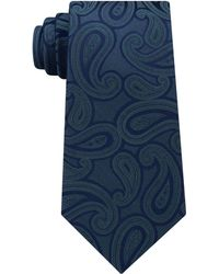 Michael Kors - Men's Unsolid Solid Paisley Silk Tie - Lyst