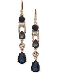 Ivanka Trump - Gold-tone Crystal & Crystal Linear Drop Earrings - Lyst