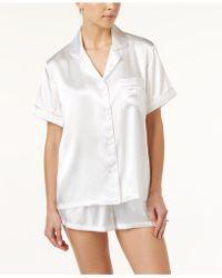 Linea Donatella - Bride-embroidered Boyfriend Short Pajama Set - Lyst