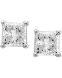 Macy's - Diamond Princess Stud Earrings (1-1/4 Ct. T.w.) In 14k White Gold - Lyst