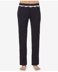 Betsey Johnson - Printed Lace-trim Pyjama Trousers - Lyst