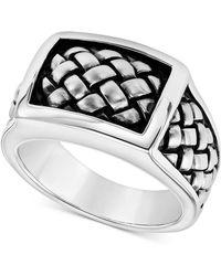 Scott Kay - Men's Weave-look Ring In Sterling Silver - Lyst