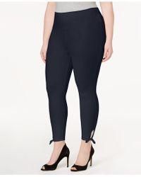 Lyssé - Plus Size Side-tie Cropped Leggings - Lyst