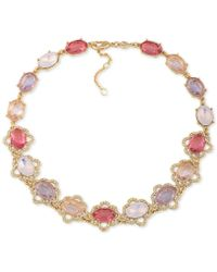 Carolee | Gold-tone Multi-stone Collar Necklace | Lyst