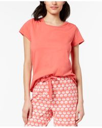 Charter Club - Cotton Short-sleeve Soft Knit Pajama Top, Created For Macy's - Lyst