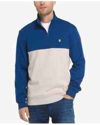 Izod - Men's Soft Touch Quarter-zip Fleece Pullover - Lyst