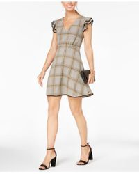 19 Cooper - Printed Fit & Flare Dress - Lyst