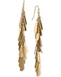 RACHEL Rachel Roy - Gold-tone Shaky Charm Linear Drop Earrings - Lyst