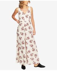 1.STATE - Floral-print Wide-leg Jumpsuit - Lyst